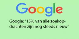Google: 15% van alle zoekopdrachten zijn nog steeds nieuw