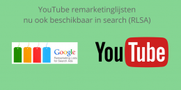YouTube remarketinglijsten gebruiken in search (RLSA)