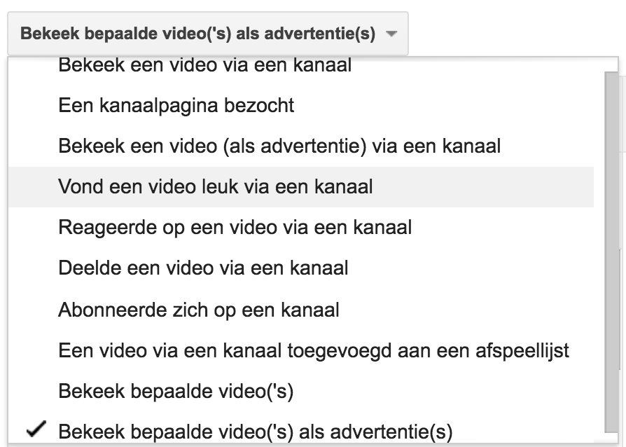 YouTube remarketinglijsten